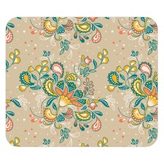 Hand Drawn Batik Floral Pattern Double Sided Flano Blanket (small)