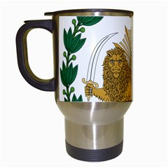 Imperial Coat Of Arms Of Persia (iran), 1907 1925 Travel Mugs (white)