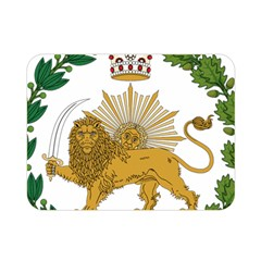 Imperial Coat Of Arms Of Persia (iran), 1907 1925 Double Sided Flano Blanket (mini)