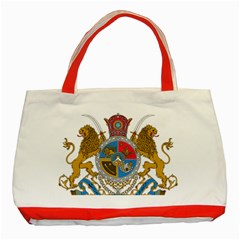 Sovereign Coat Of Arms Of Iran (order Of Pahlavi), 1932 1979 Classic Tote Bag (red)
