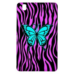 Zebra Stripes Black Pink   Butterfly Turquoise Samsung Galaxy Tab Pro 8 4 Hardshell Case