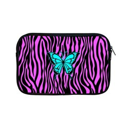 Zebra Stripes Black Pink   Butterfly Turquoise Apple Macbook Pro 13  Zipper Case
