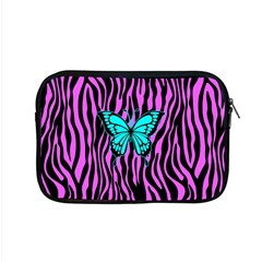 Zebra Stripes Black Pink   Butterfly Turquoise Apple Macbook Pro 15  Zipper Case