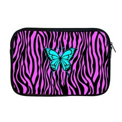 Zebra Stripes Black Pink   Butterfly Turquoise Apple Macbook Pro 17  Zipper Case