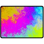 Grunge Radial Gradients Red Yellow Pink Cyan Green Double Sided Fleece Blanket (Large)  80 x60 Blanket Front