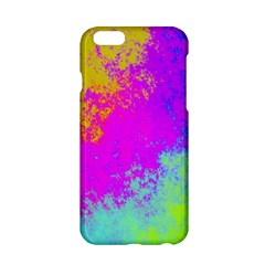 Grunge Radial Gradients Red Yellow Pink Cyan Green Apple Iphone 6/6s Hardshell Case