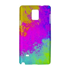 Grunge Radial Gradients Red Yellow Pink Cyan Green Samsung Galaxy Note 4 Hardshell Case