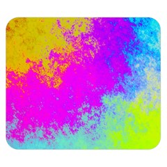 Grunge Radial Gradients Red Yellow Pink Cyan Green Double Sided Flano Blanket (small)