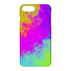 Grunge Radial Gradients Red Yellow Pink Cyan Green Apple Iphone 7 Plus Hardshell Case