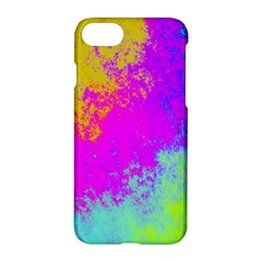 Grunge Radial Gradients Red Yellow Pink Cyan Green Apple Iphone 7 Hardshell Case