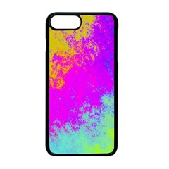 Grunge Radial Gradients Red Yellow Pink Cyan Green Apple Iphone 7 Plus Seamless Case (black)