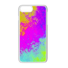 Grunge Radial Gradients Red Yellow Pink Cyan Green Apple Iphone 7 Plus White Seamless Case
