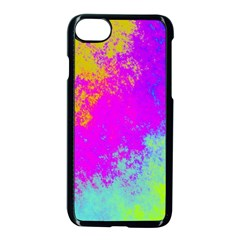 Grunge Radial Gradients Red Yellow Pink Cyan Green Apple Iphone 7 Seamless Case (black)