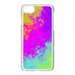 Grunge Radial Gradients Red Yellow Pink Cyan Green Apple Iphone 7 Seamless Case (white)