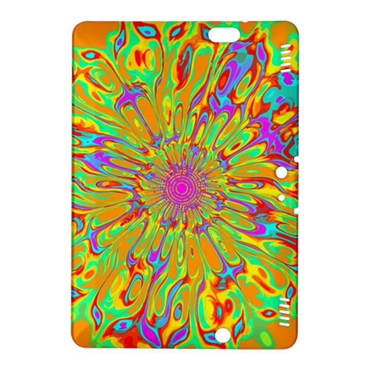 Magic Ripples Flower Power Mandala Neon Colored Kindle Fire HDX 8.9  Hardshell Case