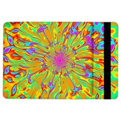 Magic Ripples Flower Power Mandala Neon Colored Ipad Air 2 Flip