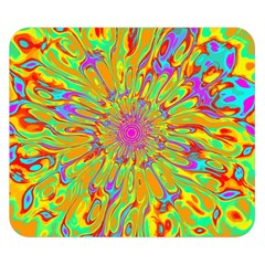 Magic Ripples Flower Power Mandala Neon Colored Double Sided Flano Blanket (small)