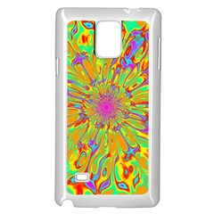 Magic Ripples Flower Power Mandala Neon Colored Samsung Galaxy Note 4 Case (white)