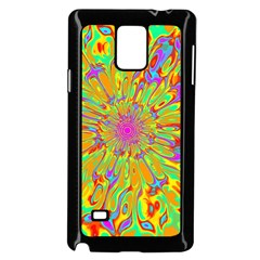 Magic Ripples Flower Power Mandala Neon Colored Samsung Galaxy Note 4 Case (black)