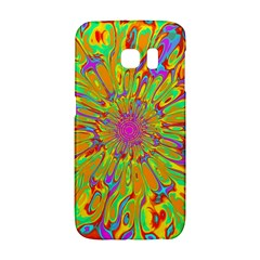 Magic Ripples Flower Power Mandala Neon Colored Galaxy S6 Edge