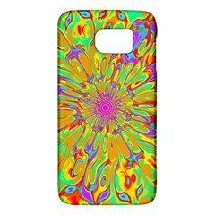 Magic Ripples Flower Power Mandala Neon Colored Galaxy S6