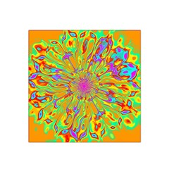 Magic Ripples Flower Power Mandala Neon Colored Satin Bandana Scarf