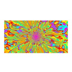 Magic Ripples Flower Power Mandala Neon Colored Satin Wrap