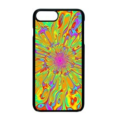Magic Ripples Flower Power Mandala Neon Colored Apple Iphone 7 Plus Seamless Case (black)