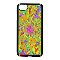 Magic Ripples Flower Power Mandala Neon Colored Apple Iphone 7 Seamless Case (black)