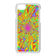 Magic Ripples Flower Power Mandala Neon Colored Apple Iphone 7 Seamless Case (white)