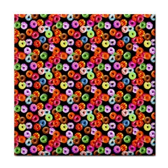 Colorful Yummy Donuts Pattern Tile Coasters