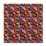 Colorful Yummy Donuts Pattern Tile Coasters Front