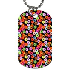 Colorful Yummy Donuts Pattern Dog Tag (one Side)