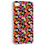 Colorful Yummy Donuts Pattern Apple iPhone 4/4s Seamless Case (White) Front