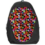 Colorful Yummy Donuts Pattern Backpack Bag Front