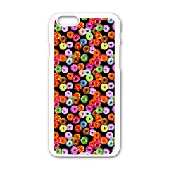 Colorful Yummy Donuts Pattern Apple Iphone 6/6s White Enamel Case