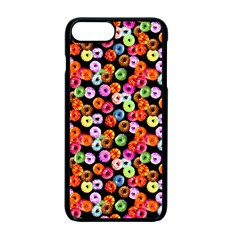 Colorful Yummy Donuts Pattern Apple Iphone 7 Plus Seamless Case (black)