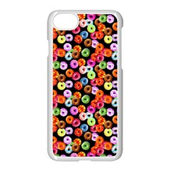Colorful Yummy Donuts Pattern Apple Iphone 7 Seamless Case (white)