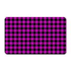Lumberjack Fabric Pattern Pink Black Magnet (Rectangular)