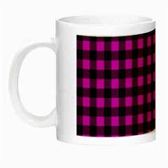 Lumberjack Fabric Pattern Pink Black Night Luminous Mugs