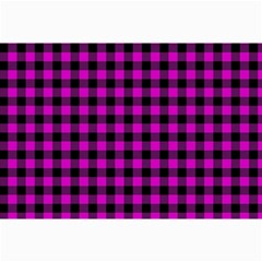 Lumberjack Fabric Pattern Pink Black Canvas 12  x 18