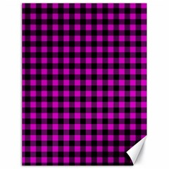 Lumberjack Fabric Pattern Pink Black Canvas 18  x 24
