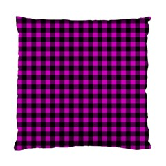 Lumberjack Fabric Pattern Pink Black Standard Cushion Case (One Side)
