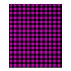 Lumberjack Fabric Pattern Pink Black Shower Curtain 60  x 72  (Medium)