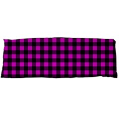 Lumberjack Fabric Pattern Pink Black Body Pillow Case Dakimakura (Two Sides)
