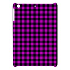 Lumberjack Fabric Pattern Pink Black Apple iPad Mini Hardshell Case