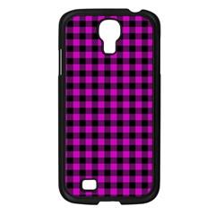 Lumberjack Fabric Pattern Pink Black Samsung Galaxy S4 I9500/ I9505 Case (Black)
