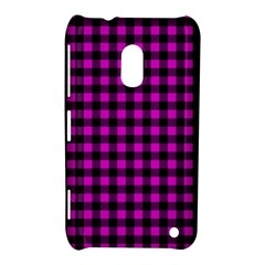 Lumberjack Fabric Pattern Pink Black Nokia Lumia 620