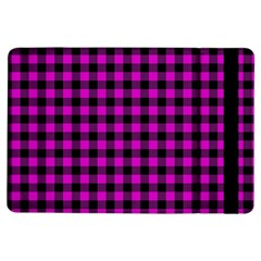 Lumberjack Fabric Pattern Pink Black iPad Air Flip