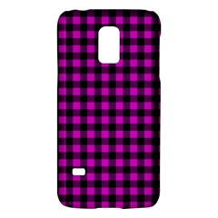 Lumberjack Fabric Pattern Pink Black Galaxy S5 Mini